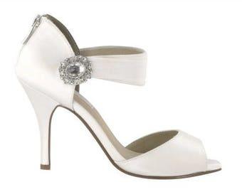 SALE Wedding Shoes Bridal Dyeable Peep Toe