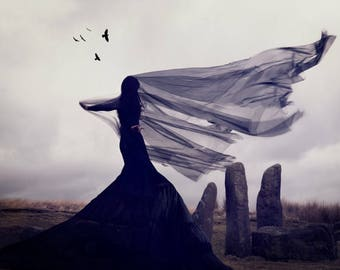 """Mounted Fine Art Photography Limited Edition Print - """"Raven's Song"""""""