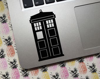 Police Box vinyl decal - CHOICE OF COLOR  - Car decal, laptop decal, decoration, whovian, britmania