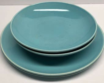 Ballerina Turquoise Blue  Universal Oven Proof Union Made USA  5 piece