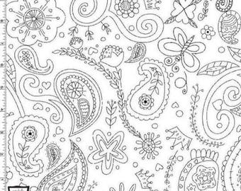 """END OF BOLT - 25.5""""x44"""" - Color Me Princess Paisley from Michael Miller's Color Me Fabric Collection"""