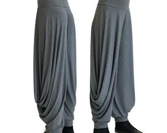Draped Wide leg pants harem trousers casual loose plus size boho chic best selling women pants trending items jersey xl, xxl, xxxl COMFORT