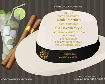 Havana Nights Party Invitation - EVITE DIGITAL FILE