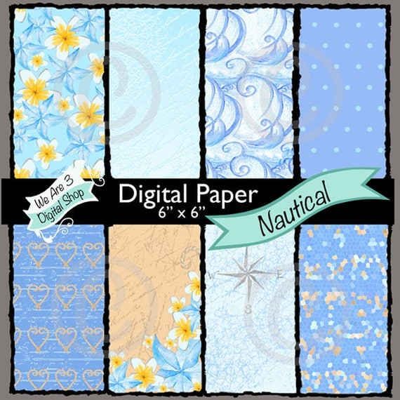 We Are 3 Digital Paper, Nautical,  Intro Price