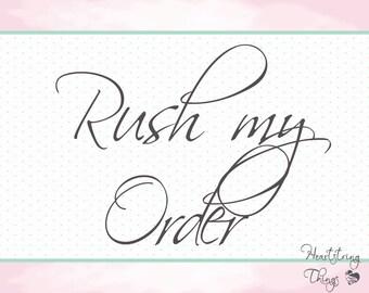 Rush My Order -- Overnight shipping