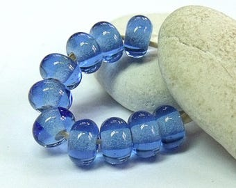 French Blue, Lampwork Spacer Beads, SRA, UK