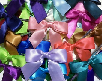 100 ASSORTED Pre-made Bow Embellishments