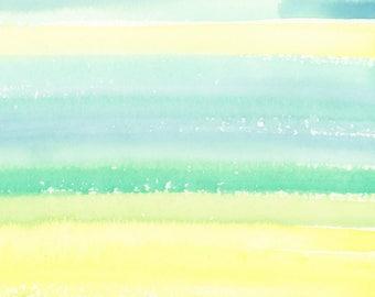 Abstract Art Print, Watercolor Print, Stripes, Skies, landscape art, Modern Art Print, Contemporary Art Print, Square Art