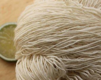 Pure - Handspun Natural Angora Alpaca Cream Yarn