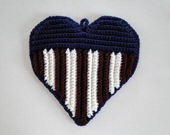 Patriotic Heart Potholder Crochet Pattern - Patriotic Heart Potholder Crochet Pattern - Flag Potholder Crochet Pattern - Flag Pot Holder