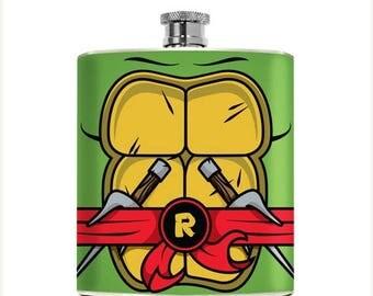 Geeky Mens Flask Best Man Geeky Guys Superhero Drinking Gifts  Liquor Whiskey Wedding Groomsmen Teenage Turtles Boyfriend Birthday
