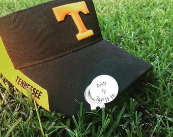 Father's Day Golf Gift - Personalized Golf Ball Marker with Hat Clip - Tap It In Dad - Custom Ball Marker - Hand Stamped Golfer Gift