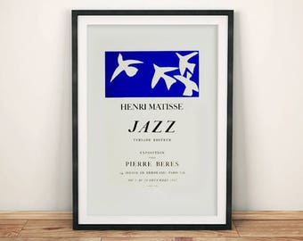 MATISSE JAZZ POSTER: Blue Exhibition Reproduction Print