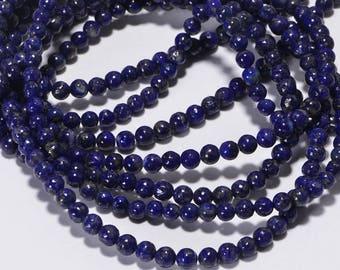 Lapis Lazuli 4 mm Royal Blue Natural Lapis Lazuli Jewelry Making Supplies