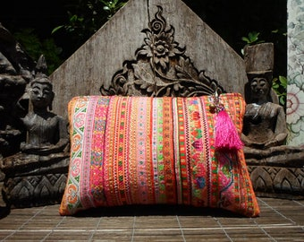 Embroidered Tribal Textile Clutch Purse