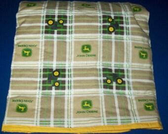 New Handmade John Deere Baby Crib Quilt, Toddler Bed Blanket Comforter