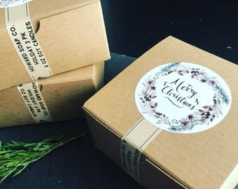 3 PK Holiday Candle Set >> handpoured soy/christmas gift/minnesota made