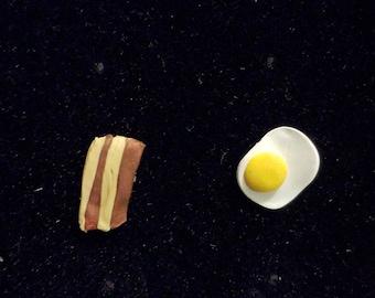 Bacon -N- Eggs Earrings