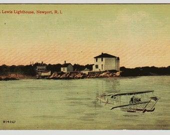 Vintage Postcard, Ida Lewis Lighthouse, Newport, Rhode Island, ca 1910