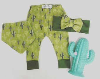 Cactus Baby Leggings, Cool Cactus, Baby Baby Clothes Set, Baby Bin Set, Cactus,