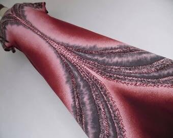 SALE :)) PSYCHEDELIC FLOW . Stunning Ombre Art Deco Pixelized Print Maxi Dress 70s L Xl 0X Plus Size