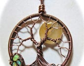 4th of July Sales Tree of Life, Yellow Jade Moon, Opal Bird Nest and Yellow Jade Tree of Life, Fallen Nest Tree of Life
