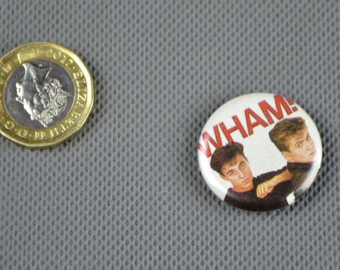 Set of FIVE Vintage Original WHAM! 1980s Badges Pin George Michael