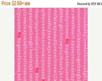 ON SALE Surrounded By Love by Moda, Pink Fabric, Valentine Fabric, 02267