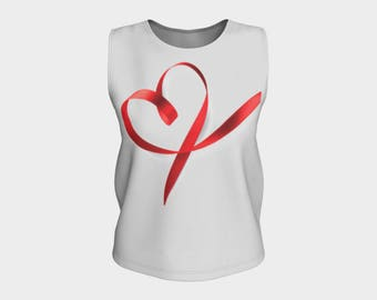 Stylish Tank Top with Love Pink Ribbon