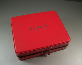 Fabulous Red Vinyl Clad CAO Cigar Box / Purse Craft Supply