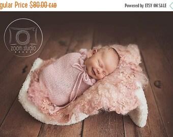 Happy Birthday sale newborn knit pod, photo props, POD ONLY ruffles