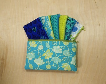 Cash Budget System, Cash Envelope Wallet -Ivy on Teal- (It can be used with the Dave Ramsey system)