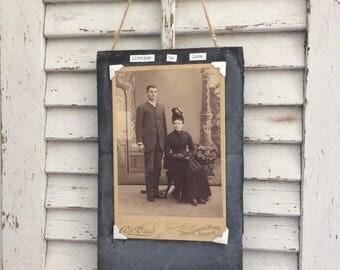 Vintage 1900's photo card, mixed media art, vintage photo art