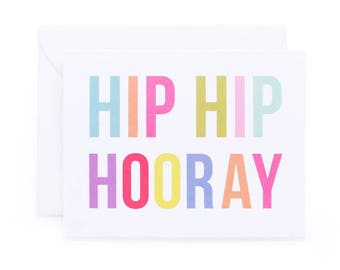 Hip Hip Hooray Birthday/Celebration Card
