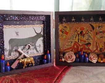 Small Nut Nuit Box Shrine.  Nicho.  Shadow Box.