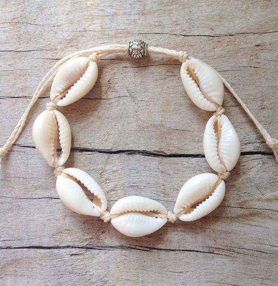 beach jewelry, cowrie shell bracelet, beachcomber mermaid bracelet , bohemian bracelet