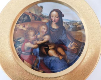 Beautiful Madonna and Child Plate - 1980 Collector's Piece - Hand Decorated - National Gallery of Art - Christmas Collectible