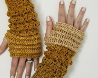 Knitted Fingerless gloves, boho clothing, Rainbow wrist warmer, elegant half finger gloves, rainbow gloves, yoga valentine's day gift