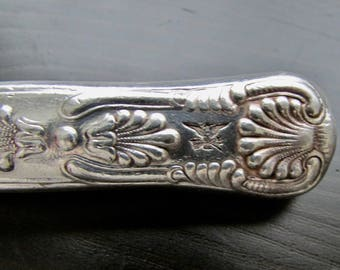US Navy Knife Armorial Eagle Rarely Seen Vintage Rounded-tip Silverplate King's Pattern