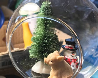 Christmas Piggies Tiny Diorama