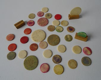 Instant Collection of Vintage Game Pieces, Counters, Tiddly  Winks