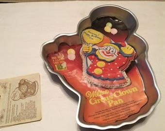 wilton circus clown cake pan