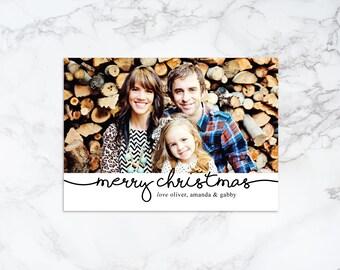 Printable Modern Holiday/Christmas Photo Card