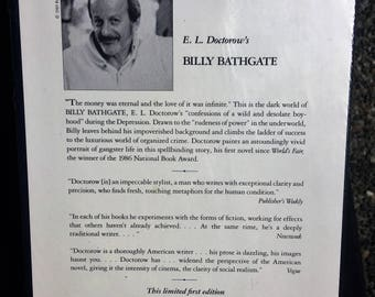 Vintage Franklin Library Sealed Signed First Edition E. L. Doctorow's Billy Bathgate