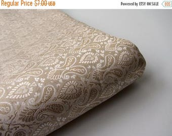 ON SALE 25% OFF Golden hearts and paisleys silk brocade fabric nr 828 for 1/4 yard | fat quarter