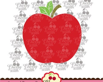 School Apple Svg dxf eps Back to School Silhouette & Cricut Cut degisn -Personal and Commercial Use  SCH10