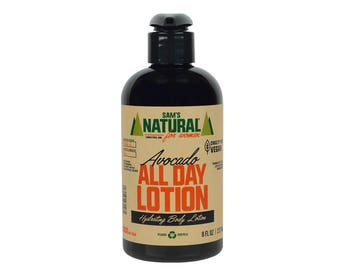 Sam's Natural - Avocado All Day Lotion - Gifts For Women - Natural, Vegan + Cruelty-Free