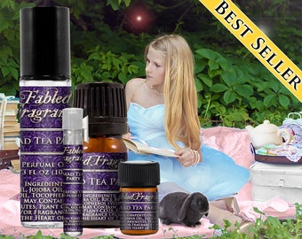 MAD TEA PARTY Perfume: Alice in Wonderland, Tart Plum, White Tea, Artisan Fragrance, Vegan Solid Perfume, Ships Out in 4-7 Days