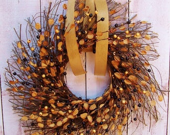 Fall Wreath-Fall Front Door Wreath-Fall Home Decor-Fall Door Wreath-Fall Door Decor-Fall Home Decor-DRIED SNAPDRAGON BERRY Twig Wreath