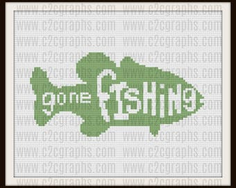 Gone Fishing, Crochet Pattern, C2C Graph